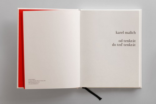 Karel Malich: From That Time to That Time Now (cover embossed in black, signed) | Belles-lettres | (9.9. 18 18:25:50)