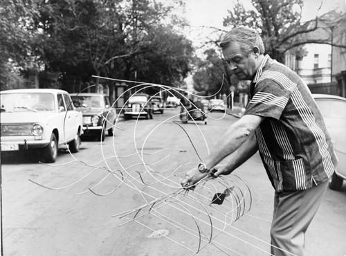 Karel Malich na Vinohradech / 70.léta 20.století / foto archiv autora