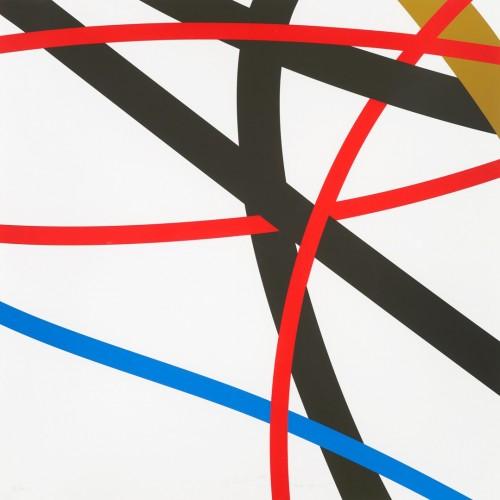 Zdeněk Sýkora, Let 2344, 2007, čtyřbarevná serigrafie, papír, 70 × 70 cm