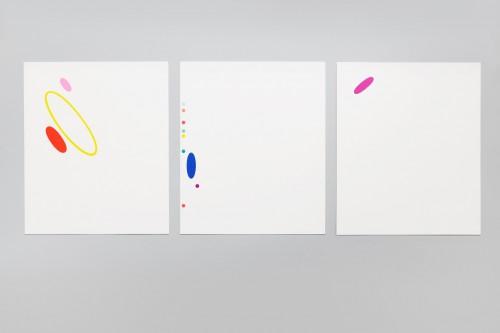Karel Malich, Grafický list série I, II, III 2006, serigrafie, papír, 30× 28 cm