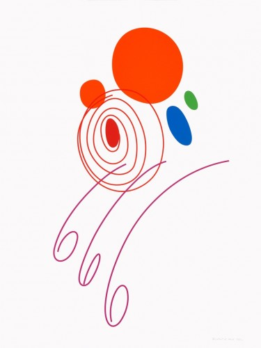 Karel Malich, Bez názvu, 2014, serigrafie, papír,120 × 90 cm