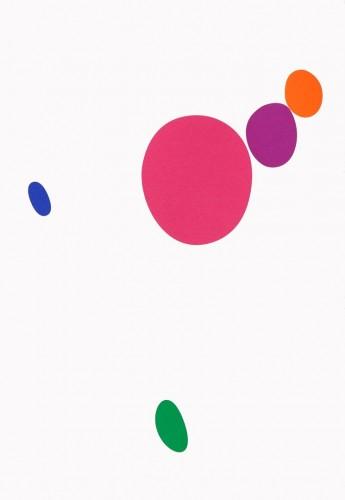 Karel Malich, Bez názvu, 2007, serigrafie, papír,51 × 35.5 cm