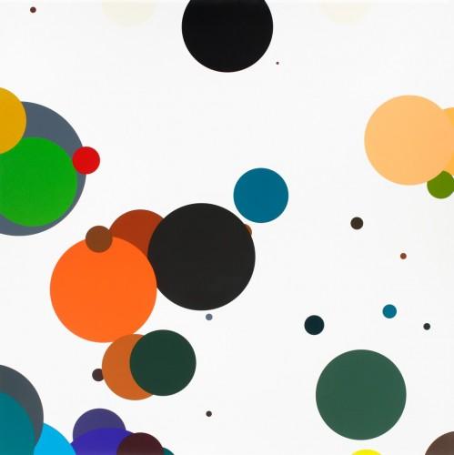Zdeněk Sýkora, Colour null lines, 2011, thirty-four-colour serigraphy on paper, 120 × 120 cm