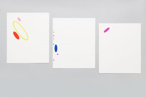 Karel Malich, Grafický list série I, II, III, 2006, serigrafie, papír, 30× 28 cm