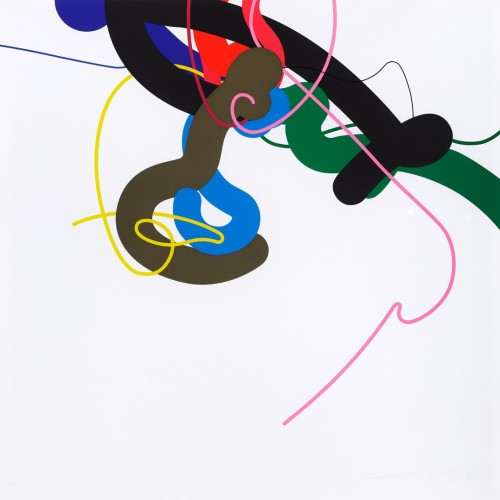 ​Zdeněk Sýkora, Lines No. 197, 2004, thirteen-colour serigraphy on paper, 84 × 84 cm