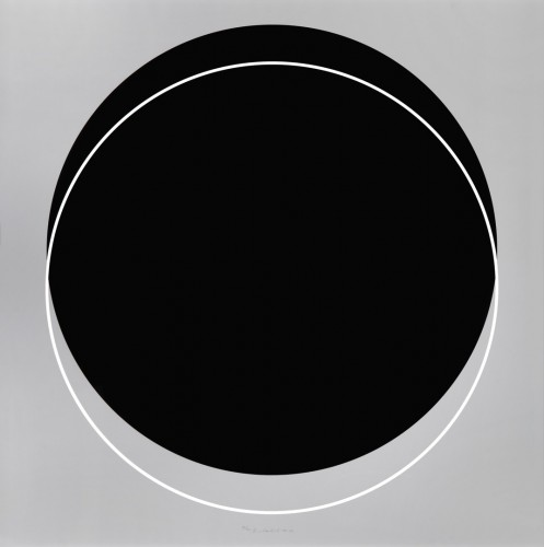 Karel Malich, A Flash of Light in the Dark, 2011, serigraphy on paper,120 × 120 cm