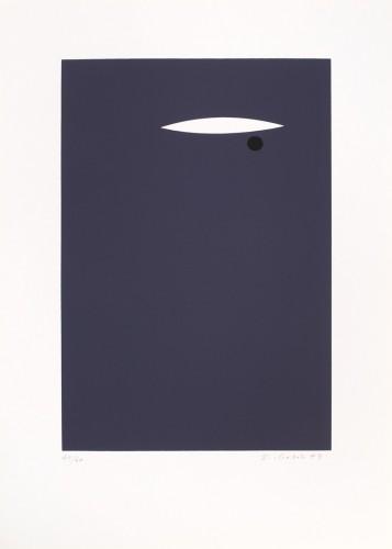 Karel Malich, Light, 1993, serigraphy on paper,38 × 24 cm