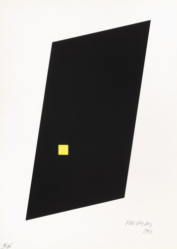 Milan Grygar, Surface and space, 1993, serigraphy on paper, 53 × 38 cm