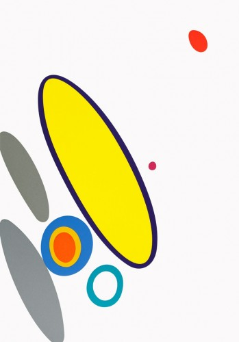 Karel Malich, Uviděl jsem to, 2014, serigrafie, papír,51 × 35,5 cm