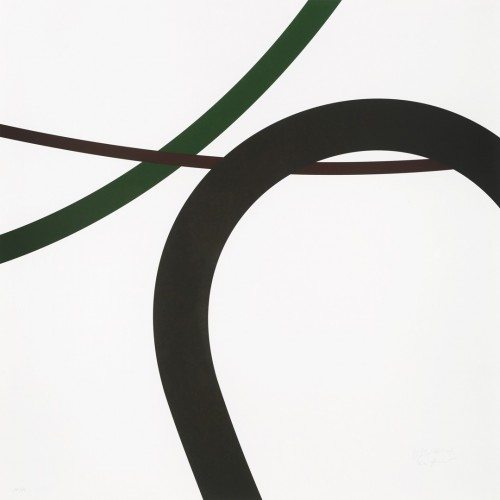 Zdeněk Sýkora, Let 2331, 2007, tříbarevná serigrafie, papír, 70 × 70 cm