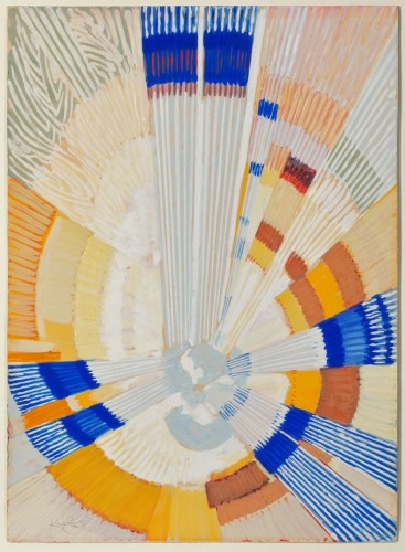 František Kupka, The Big Bang, first half of the 1920s, gouache on paper, 307 x 225 mm (Photo © Martin Polák)