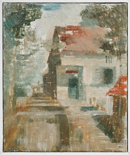 Václav Boštík, Václav Boštík's Mill (The Ležák Mill), 1940, oil on canvas, 30 x 25 cm