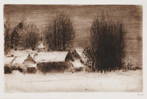 Bohuslav Reynek, Petrkov, 1962, drypoint on paper, 137 x 217 mm