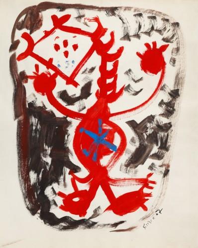 Jan Křížek, Bez názvu, 1957, tempera, papír, 55.5 x 44.5 cm