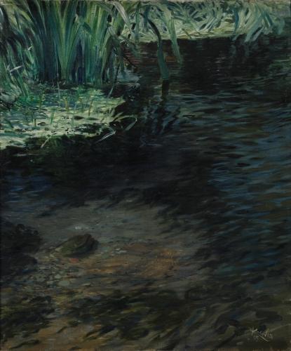 František Kupka, Rybník, 1905, olej, plátno, 55 x 46 cm