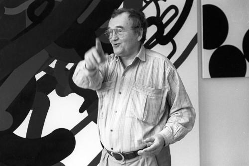 Zdeněk Sýkora in his studio in Louny, 1991 Photo © Lenka and Zdeněk Sýkora Archive, Hans Kaulertz / Süddeutsche Zeitung