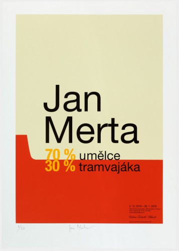 Jan Merta  – 70 % umělce, 30 % tramvajáka | Plakáty | (17.1. 19 11:40:34)